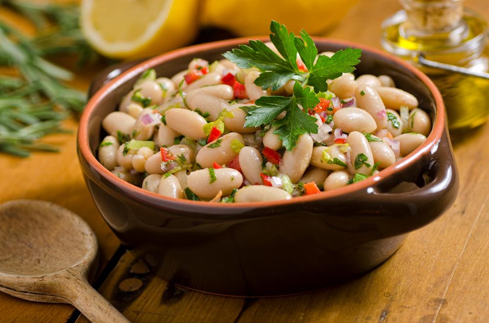 alimentos ricos en magnesio: frijoles cannellini