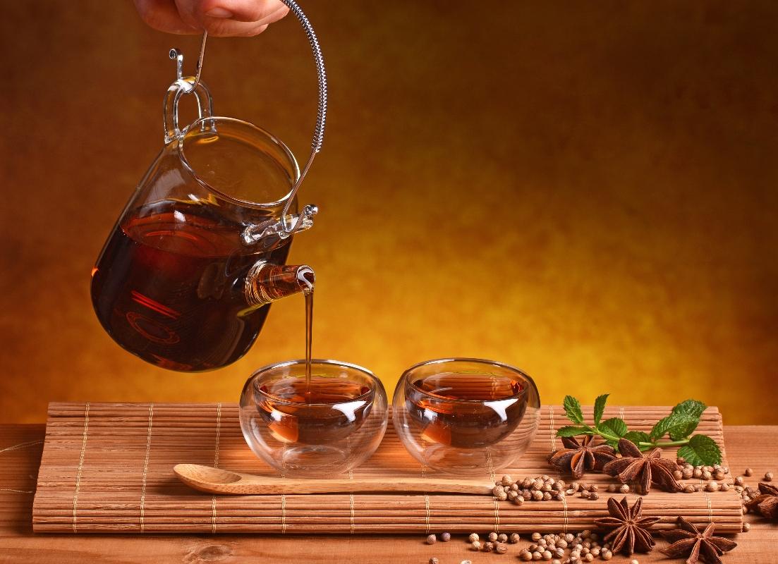 cilantro: té de hierbas