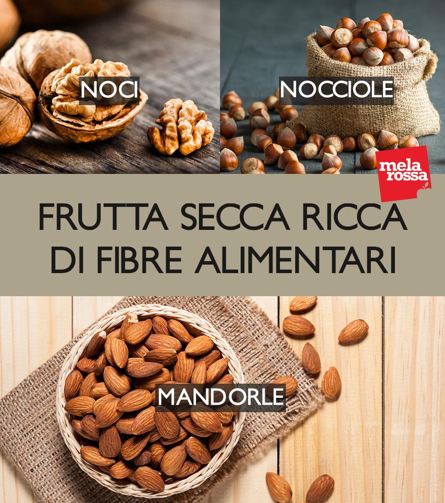 fibra dietética: frutos secos que contienen más