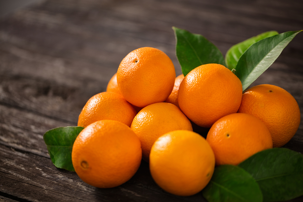Noviembre fruta, naranjas