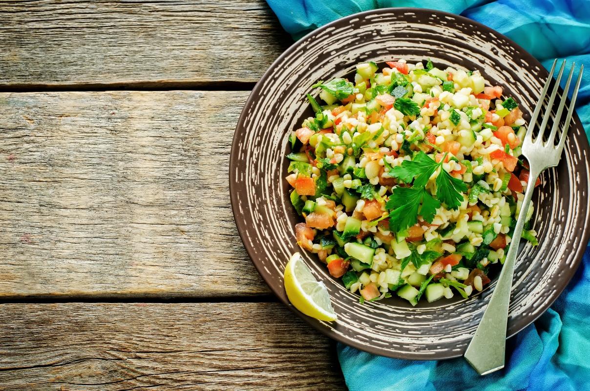 ensalada de bulgur con verduras