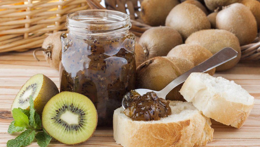 mermelada de kiwi y pera con agar agar