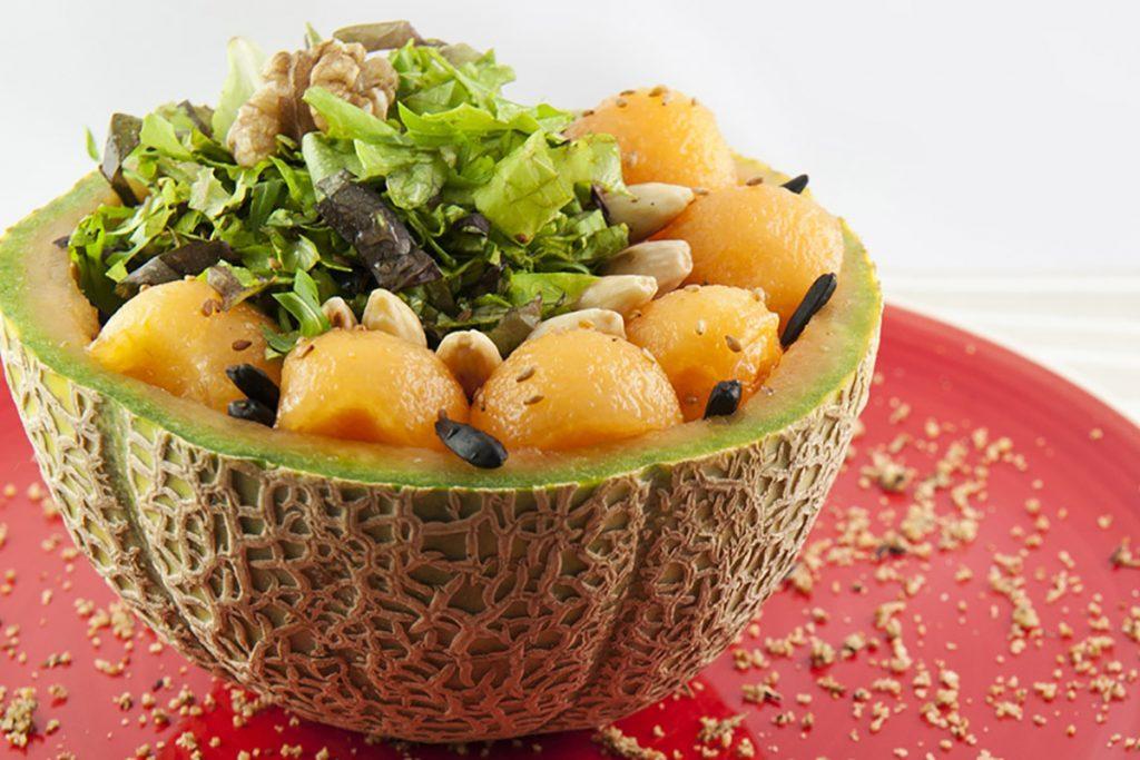 recetas con ensalada de melón semillas de melón tostadas