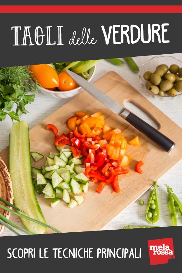 cortes de verduras: juliana, brunoise, etc. Como hacerlos