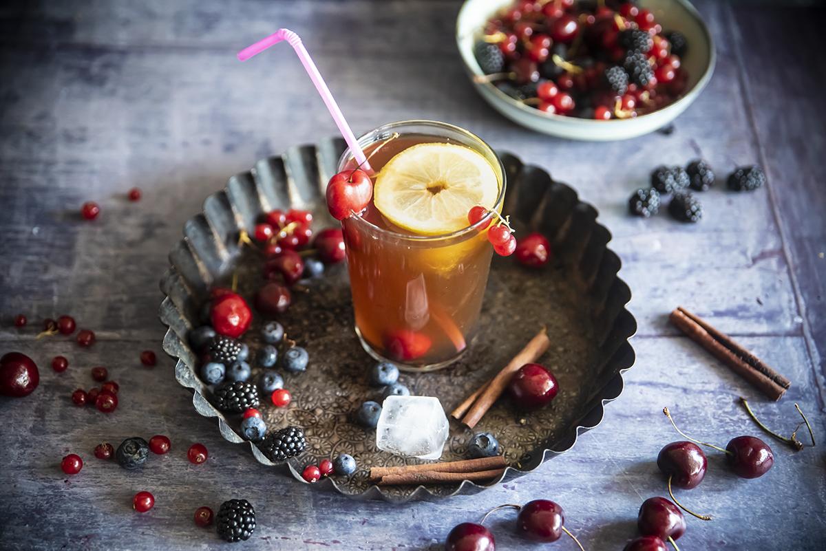 Té negro con frutos rojos y canela